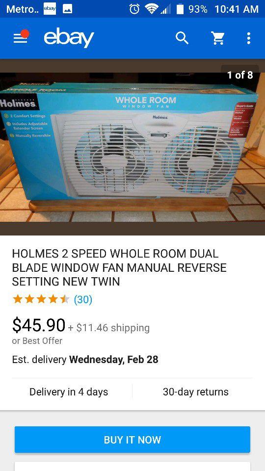 Holmes Whole Room Window Fan Household In Villa Rica Ga