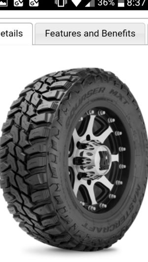 35x12.50 R15 MasterCraft mud tires