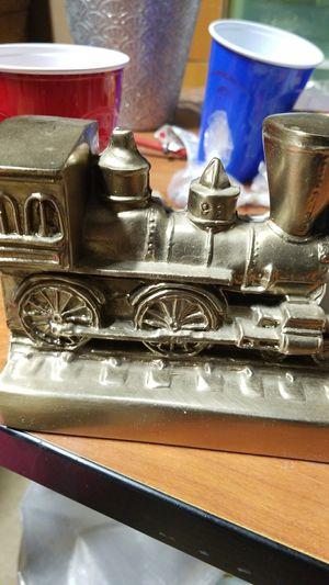 Metal train decor