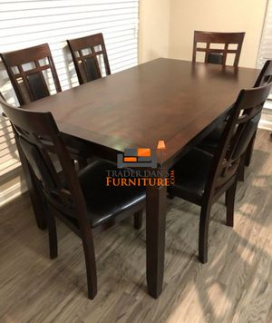 Brand New 7 Piece Wood Dining Set (2 Styles)