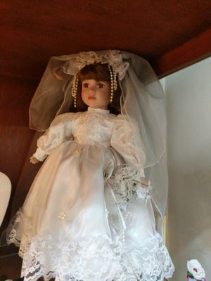 Wedding porcelain doll