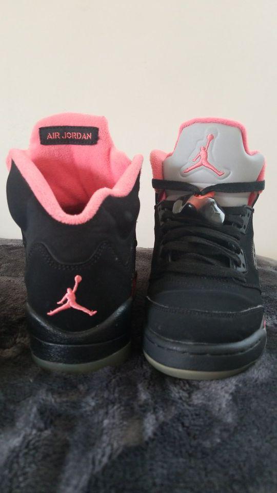 Retro 5 Air Jordan Nike Peach and Black (Clothing & Shoes) in San Jose, CA