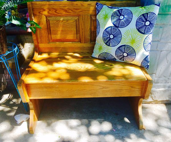 Nice Storage Bench Seat Made By HW Hull Sons Of Gardena CA - Patio furniture san jose ca