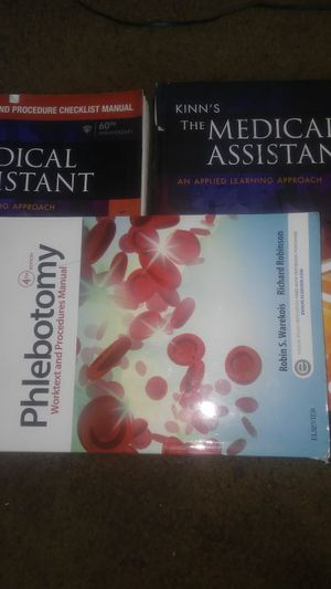 Kinns medical assistant 13th edition. And phlebotomy book