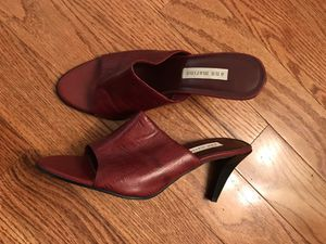 Red Leather Heels - Size 8.5