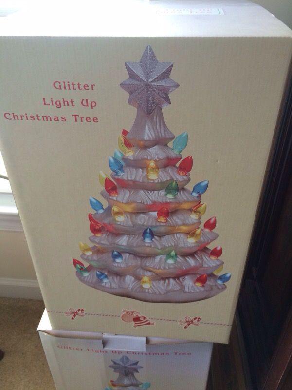 Cracker Barrel Light Up Ceramic Christmas Tree 18 inches tall ...