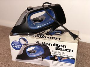 Hamilton beach steam iron