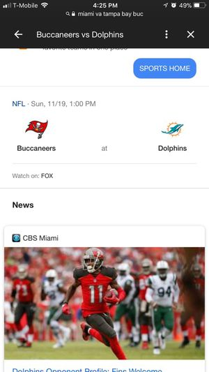 DOLPHINS VS BUCS GAME TICKETS