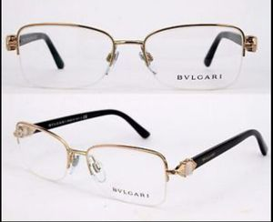 New Bvlgari Eyeglass Frames Half-rim Authentic