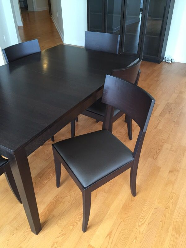 dining table with extension leaf and 6 chairs furniture