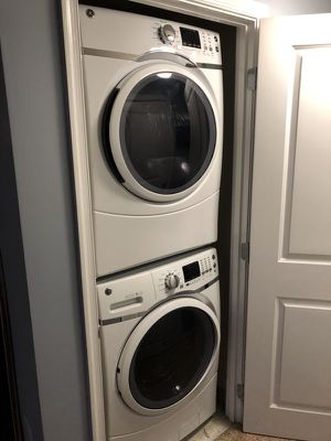 New GE HE Front Load Washer and Dryer Machine with Steam