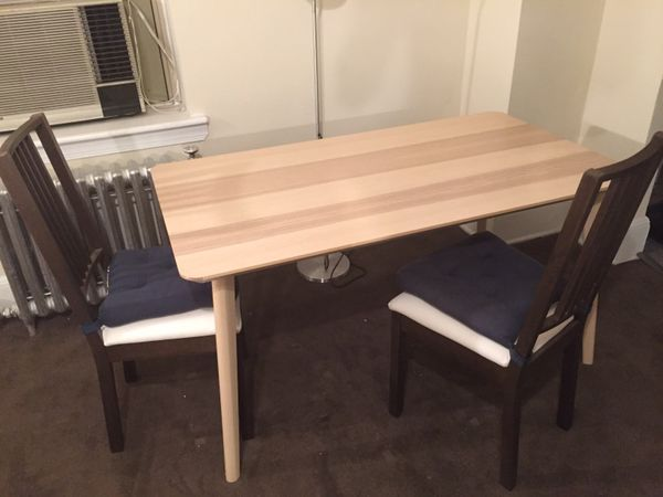 ikea lisabo dining table with 2 stefan chairs furniture in philadelphia pa. Black Bedroom Furniture Sets. Home Design Ideas