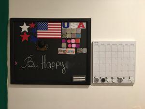 Magnet and chalk board + Magnet calendar
