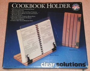 Wood Frame + Glass Cookbook Holder