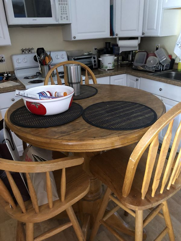 High Top Four Chair Dining Room Table