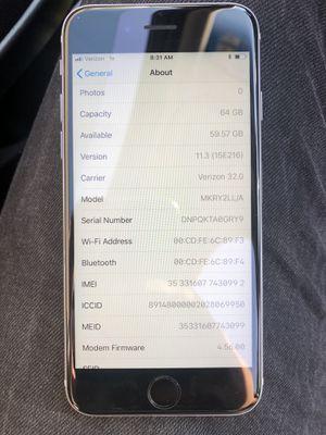 UNLOCKED IPHONE 6S 64GB!!!!!!