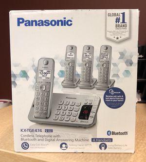 Grey panasonic kx-tge474 cordless telephone set