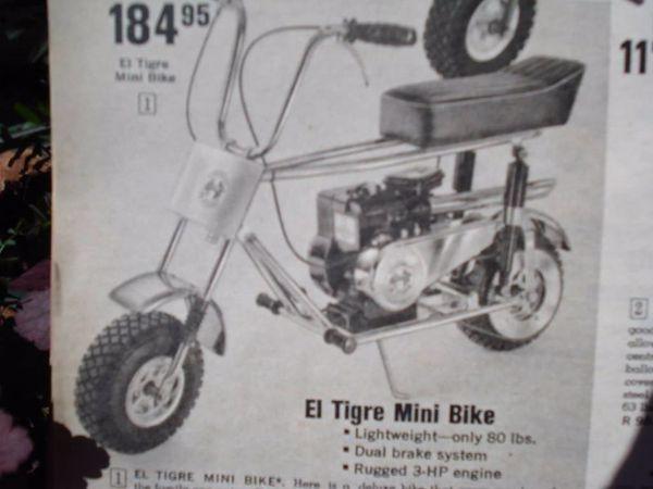 Vintage 1969 El Tigre Minibike 6 5 Honda Motor Fast