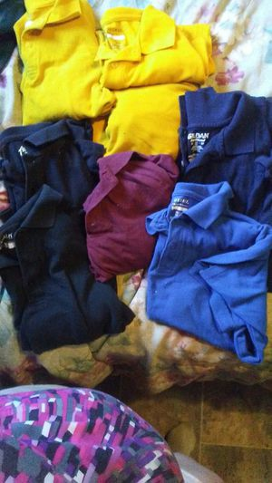 Size 14/16 school uniform shirts, used for sale  Tulsa, OK