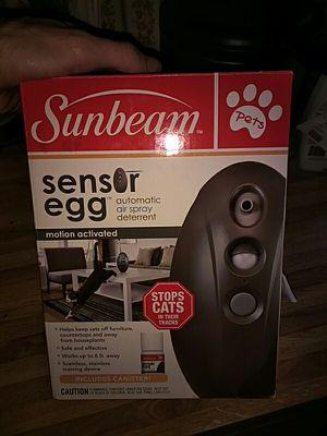 Cat deterrent sensor egg