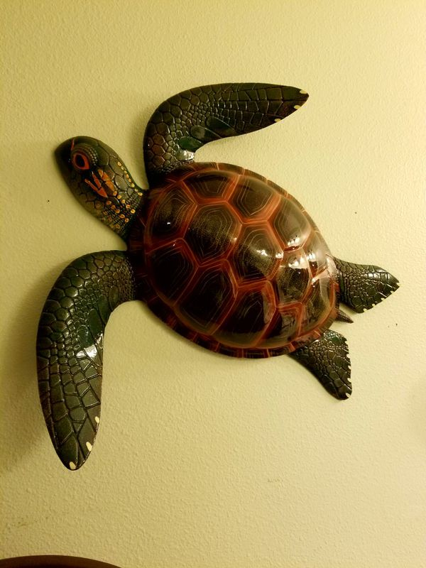 Modern Sea Turtle Wall Decor Crest - Wall Art Collections ...
