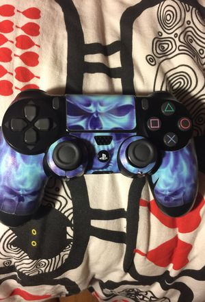 PS4 controller with skeleton sticker