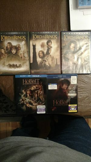 Lord of the Rings & The Hobbit DVD & Blu Ray Sets