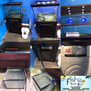 45 gallon Cube corner Aquarium fish tank complete $300