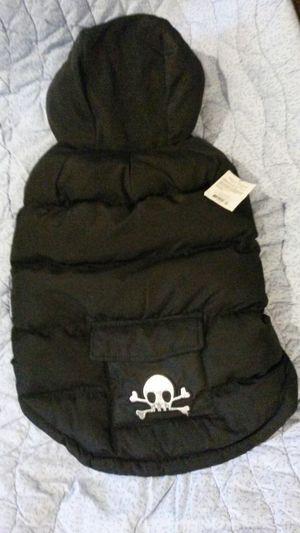 Black medium dog coat