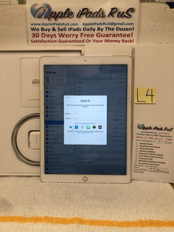 L4 - iPad Pro 12.9 256GB Cell-Unlocked