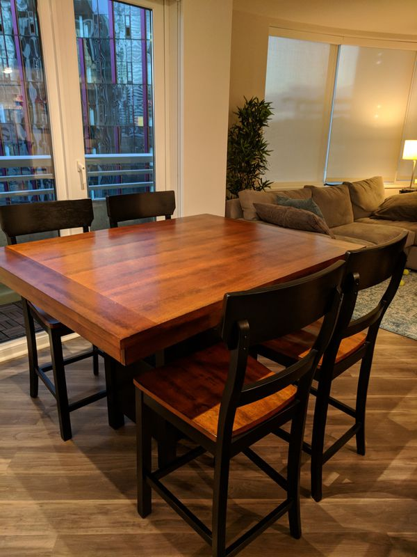 Dining Table And Chairs Pub Height Furniture In Seattle WA