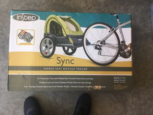 Bicycle trailer for kids. Never used. Brand new