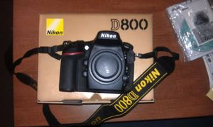 Nikon D800 Camera with Nikon MB-D12 Battery Power Pack & Super Battery