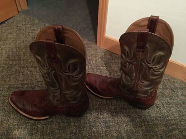 Ariat Tombstone Men's Chestnut Brown Square Toe Western Boot. Size 13  (Audio Equipment) in San Antonio, TX