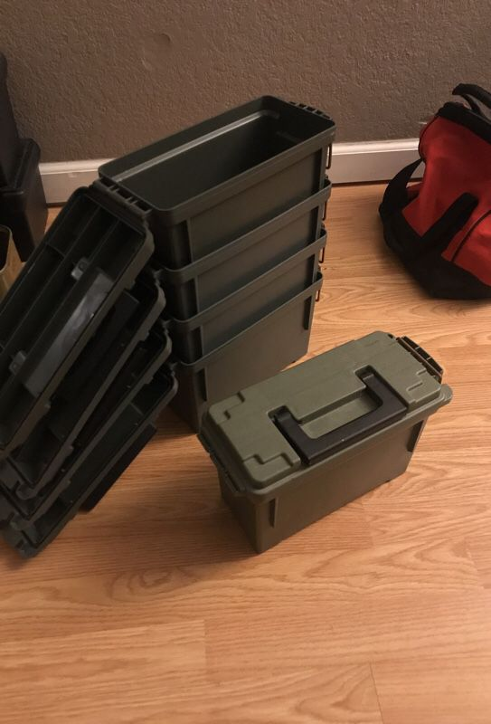 5 storage containers 30 Cal ammo cans Sports Outdoors in