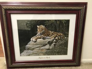 Wooded Leopard Picture Frame.