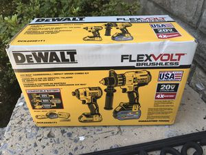 Dewalt Combo Flexvol 20v XR brushless new never used
