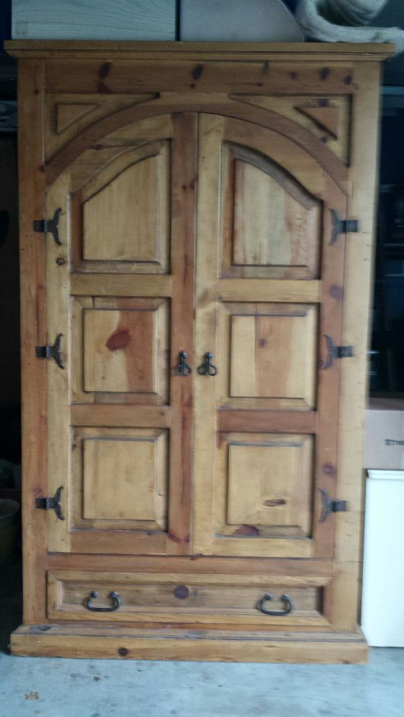 solid knotty pine armoire furniture in edmonds wa offerup