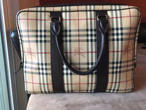 Authentic Burberry Laptop Bag MINT condition 700