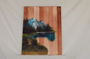 """Country side mountain (Oil on canvas 18"""" x 24"""")"""
