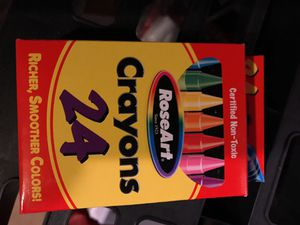 20 Boxes of 24 RoseArt Crayons-New