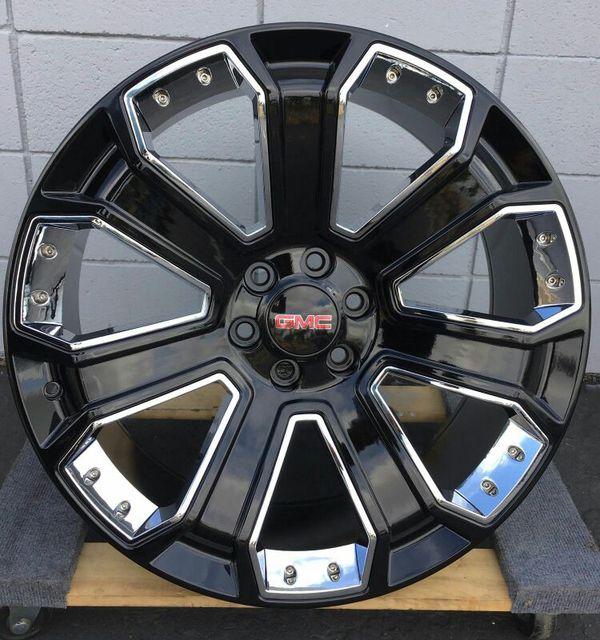 24 Quot Gmc Yukon Denali Chevy Black Wheels Rims Tires