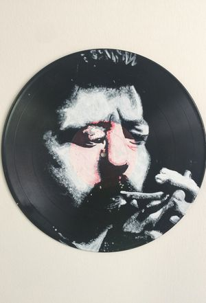 Eric Clapton hand painted vinyl