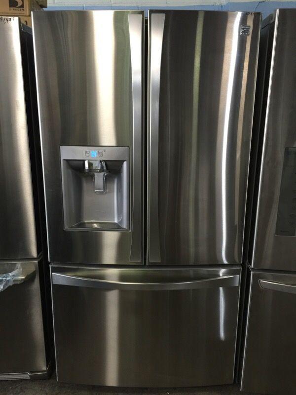 kenmore bottom freezer refrigerator. kenmore elite 74043 23.7 cu. ft. french door bottom-freezer refrigerator \u2014stainless bottom freezer