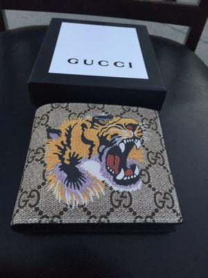 Gucci Tiger Wallet Supreme Canvas