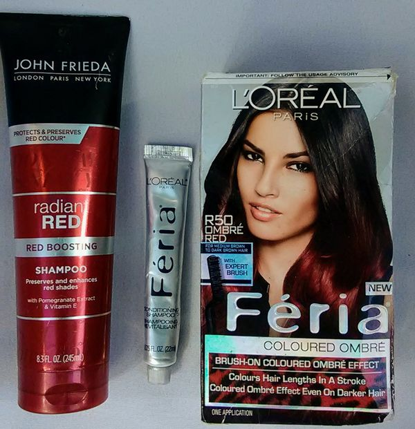 Loreal Paris Feria Brush On Ombre Effect Hair Color R50 Ombre Red