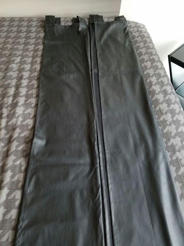 Black Leather Look Tabbed Drapes Household In Oak Park Il