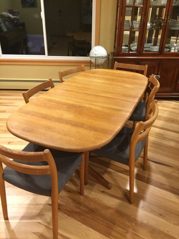 Mid Century Danish Teak Dining Table & Chairs Furniture