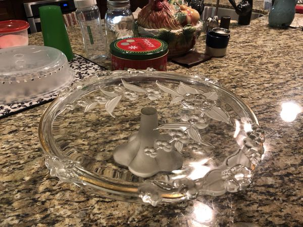Mikasa Crystal Cake Plate (Household) in Winchester, CA - OfferUp