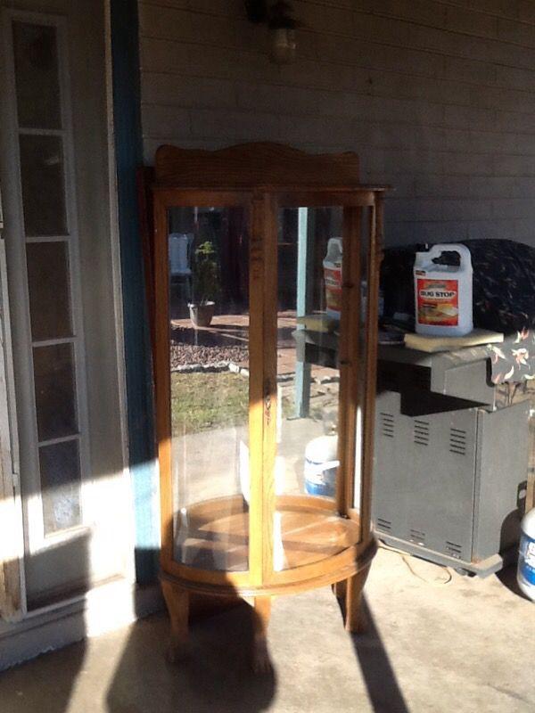 vintage oak half round curio 200 furniture in tempe